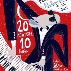 Mia Mottelson's poster for CPH Jazz Festival 2014 @ MellemRummet - poster