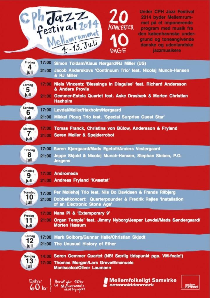 CPH Jazz Festival 2014 @ MellemRummet - programme